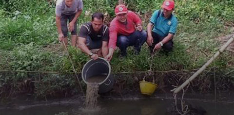 Aiming to Contribute for Productive Economic Growth in Pulau Padang, RER Introduces Freshwater Fish Farming