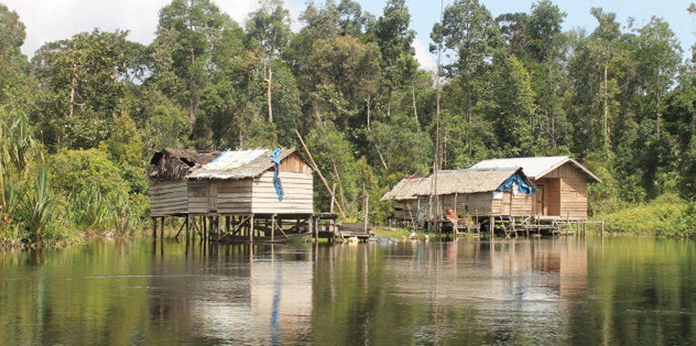The fisherman travel and live on the river in small elevated, wooden huts, from 1-3 weeks or more at a time.