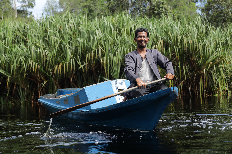 RER Fisherman in Serkap River